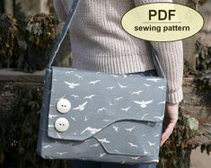 DESCRIPTION:  Please note: If you wish to make a few bags from Charlie's Aunt sewing patterns or books to sell, please read the rules in the additional information section of our policies page.  This is a PDF sewing pattern for The Brief Encounter Bag. Named after the classic 1945 film of the same title, this bag has an elegant curved shape, pretty pleating at the front and back, and a stylized bow trim. A feminine style, it can be made from one fabric or two contrasting fabrics. It is quite…