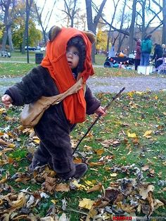 Baby Ewok costume. This is the cutest thing I have ever seen