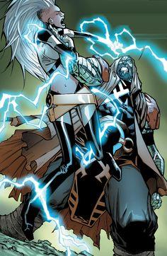 Extraordinary X MEN Storm Vs Colossus Horseman, by Humberto Ramos Marvel Comics, Dc Comics Art, Marvel Comic Books, Comic Book Characters, Comic Book Heroes, Comic Character, Marvel Fan Art, Marvel Villains, Fantasy Comics