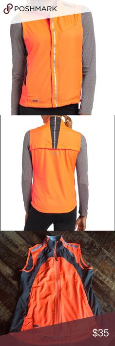 Saucony Reflexive Running Vest In excellent like new condition. Perfect for early morning or evening walks or runs. Be seen and stay safe. Saucony Jackets & Coats Vests