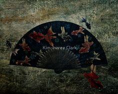 Japanese Folding Fish Fan by Kim-maree Clark Paper Fans, She Likes, Goldfish, My Baby Girl, Photo Manipulation, Dark Art, Hand Fan, Fairy Tales, Whimsical