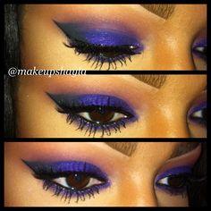 I like this photo: Purple smokey eye. Lid: mac designer purple pearl glide pencil with NARS Daphne eyeshadow over it. Crease: brownscript, Carbon. NYX liquid eyeliner. Eye lure lashes 100. #ilovemacgirls #ilovemaciggirls #makeup #maccosmetics #nars #nyx #purple