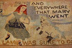 c1910s Antique folk art American Hooked rug