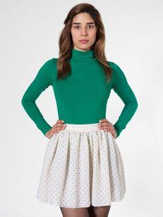 Polka Dot Chiffon Double-Layered Shirred Waist Skirt  #AmericanApparel  #PinATripWithAmericanApparelContest