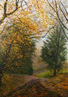 Autumn Lane - Acrilico su Tela 50x70cm - 2016 - Autumn Lane - Acrylic on Canvas 50x70cm - 2016