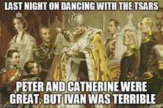 "Last night on ""Dancing with the Tsars""..."