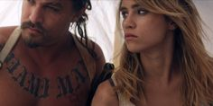Jason Momoa and Suki Waterhouse in 'The Bad Batch'