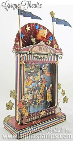 Alpha Stamps News » Cirque Theatre by Kristin Batsel + a FREE Collage Sheet!