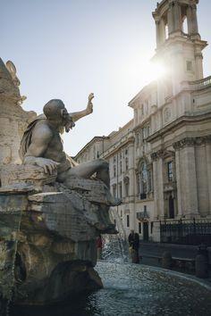 Piazza Navona in January sunshine