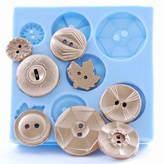 Vintage Button Mold  Makes 8 Buttons  resin by MoldMeShapeMe, $8.00