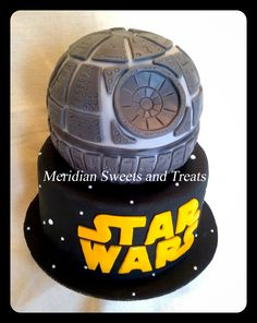 "Star Wars Death Star Cake by FB page ""Meridian Sweets and Treats."" #deathstar #starwars #meridiansweetsandtreats"