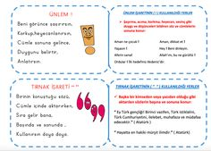 Noktalama İşaretleri defter çalışması  Çiğdem Öğretmen Turkish Lessons, Bullet Journal, Classroom, Education, School, Schools, Learning, Teaching