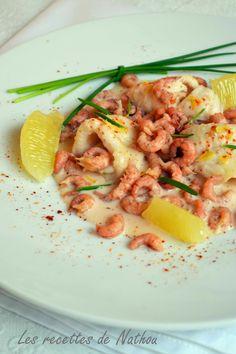 Les recettes de Nathou: Filets de sole, crevettes grises et sauce au Porto