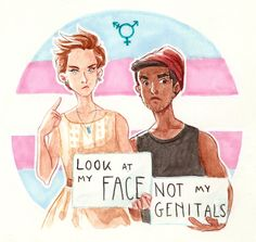 One's genitals does not define one's gender. It's international day against homophobia / transphobia / biphobia, happy May guys ! Transgender Quotes, Comic Art, Lgbt Anime, Trans Boys, Trans Art, Trans Rights, Lgbt Memes, Lgbt Love, Lgbt Community