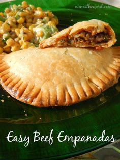 I love me some good empanadas! Chicken is my favorite, but this recipe is for beef.  It's super simple, easy clean up, and tastes yummy. Plu...