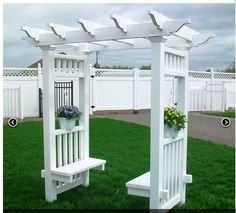 Make a sturdy, all-weather arbor bench for a comfortable seating in your backyard. 50 Creative DIY Garden Arbor Projects You Can Build To Add Beauty To Your Gardens
