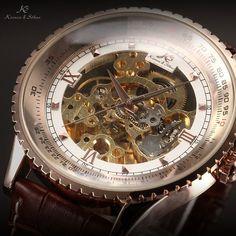 KS Automatikuhr groß Herren Uhr Mechanische Automatik Uhr Herrenuhr Armbanduhr KS113: Amazon.de: Uhren