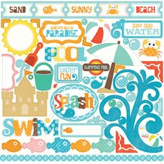 Echo Park - Splash Collection - 12 x 12 Cardstock Stickers - Elements at Scrapbook.com $2.99