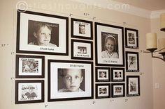 Paredes com galeria de fotos de família - * Decoração e Invenção *