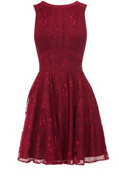 This color is amazing, and I love how delicate the dress is! It would be adorable for Christmas! by Oasis.