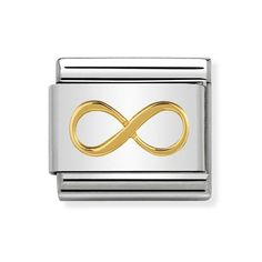 Classic Gold Infinity Charm £18.00 Nomination Charms, Nomination Bracelet, Infinity Charm, Infinity Symbol, Classic Gold, Jewelery, Symbols, Charmed, Snug