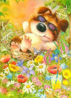 Lisi Martin Art And Illustration, Cute Animal Illustration, Cute Cartoon Pictures, Art Pictures, Graffiti Kunst, Illustrator, Christmas Art, Cartoon Drawings, Costumes