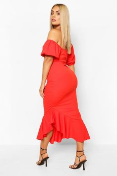 Dark Orange Double Layer Mesh Bell Skirt Genuine BARBIE Fashion