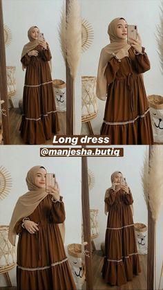 Hijab Style Dress, Modest Fashion Hijab, Casual Dress Outfits, Modest Outfits, Fashion Outfits, Long Skirt Fashion, Stylish Hijab, Muslim Women Fashion, Bohemian Style Clothing