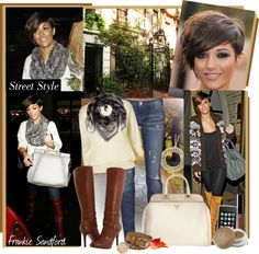 """""""Celebrity Closet: Frankie Sandford"""" by teah507 ❤ liked on Polyvore"""