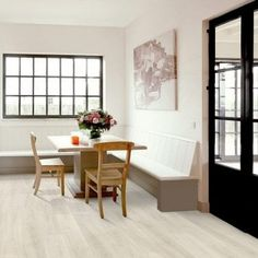 Living Room Laminate Flooring | Discount Flooring Depot Magnolia, Kitchen Flooring, Grey Laminate Flooring, Room Divider, Flooring, Furniture, Interior, Laminate, Home Decor