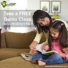 When you visit at genextstudents.com, just sign up and click Tutor Search and Connect Tab. Use our automated lookup & match tool to search for an appropriate #tutor in Mumbai.  You also schedule a free demo class before finally choosing your favourite tutor. http://www.genextstudents.com/Tutors/