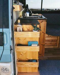 Camper van interior design and organization ideas (18)