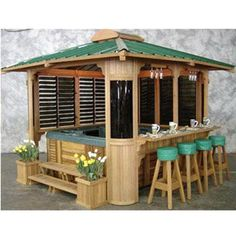 Gazebo Bar Over Hot Tub