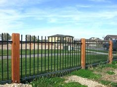 Fantastic Photographs Wrought Iron fence Style Home designing having wrought iron is usually as formidable now because wrought iron material itself. The plet. Pool Fence, Backyard Fences, Fenced In Yard, Backyard Landscaping, Backyard Ideas, Rod Iron Fences, Wrought Iron Fences, Fencing, Metal Fence
