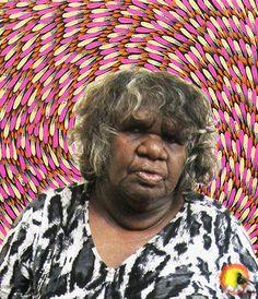 Australian Aboriginal Artist Mary Rumble Pitjara #aboriginalart #aboriginalpainting #australianart