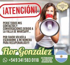 ⏩📢 ATENCIÓN #ARGENTINA : Debido a la falla que tuvo WhatsApp🚫, la Representante Flor González ha perdido los contactos🚹🚺🚼. Solicitamos que por favor le escriban 📱de nuevo, para continuar con la asesoría y despachos de productos.  😀👌 Gracias  #WhatsApp #AceitedeMarihuana #AceitedeMarihuanaMedicinal #AceitedeMarihuanaArgentina #AceitedeMarihuanaVitalGreen #VitalGreenArgentina #AceitedeCannabisEnArgentina  #AceitedeCannabisMedicinalArgentina #ArgentinaVitalGreenProducts…