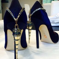 Jazz choir shoes, anyone? ;) I could NEVER stand and sing in these, but they are gorgeous and blue!