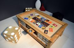 New living room storage kids coffee tables 63 ideas Board Game Storage, Board Game Table, Table Games, Board Games, Bohemian Living Rooms, New Living Room, Kids Storage, Book Storage, Large Backyard Landscaping