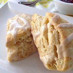 glazed vanilla bean scones