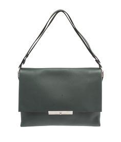 Celine Blade Green Leather Flap Shoulder Bag