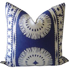 Indigo Pillows  Navy Pillow  Bora Bora by CaliforniaLivinHome