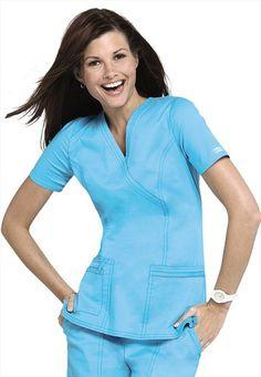 Special Offers Available Click Image Above: Cherokee Workwear Stretch Mock-wrap Scrub Top. Scrubs Uniform, Nurse Scrubs, Core Stretches, Medical Uniforms, Moda Chic, Costume, Scrub Tops, Rain Wear, Refashion