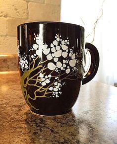 Golden Tree Hand Painted Coffee Mug - https://www.etsy.com/listing/271943246/golden-tree-coffee-mug