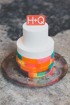 Neon wedding cake |