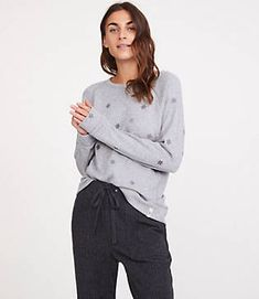 40f7205ce7d360 Lou & Grey Star Sweatshirt Stitch Fix Stylist, Stylists, Chef Jackets,  Sweatpants,