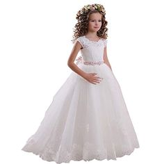 Looking for Kauste Lace Flower Girls Dress Girls First Communion Dress Princess Wedding ? Check out our picks for the Kauste Lace Flower Girls Dress Girls First Communion Dress Princess Wedding from the popular stores - all in one. Princess Flower Girl Dresses, Tulle Flower Girl, Princess Ball Gowns, Wedding Flower Girl Dresses, Flower Girls, Princess Wedding, Princess Girl, Flower Dresses, Girls First Communion Dresses