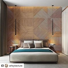 Slim bed lighting .  Repost from @artsytecture  #lightingdesign #lighting #vibia #vibialight #bedroom #bedroomdecor #bedroomlights