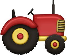 Tractor for the farm. Farm Animal Party, Farm Animal Crafts, Farm Party, Farm Animals, Tractor Clipart, Clipart Boy, Harvest Farm, Red Tractor, Farm Fun