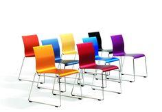 Sting, Stackable linkable chair by Stefan Borselius + Fredrik Mattson - Bla Station