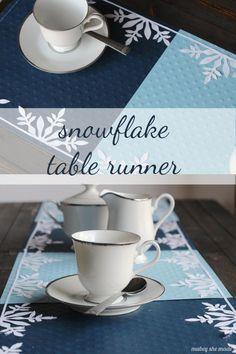 Frozen Snowflake Table Runner